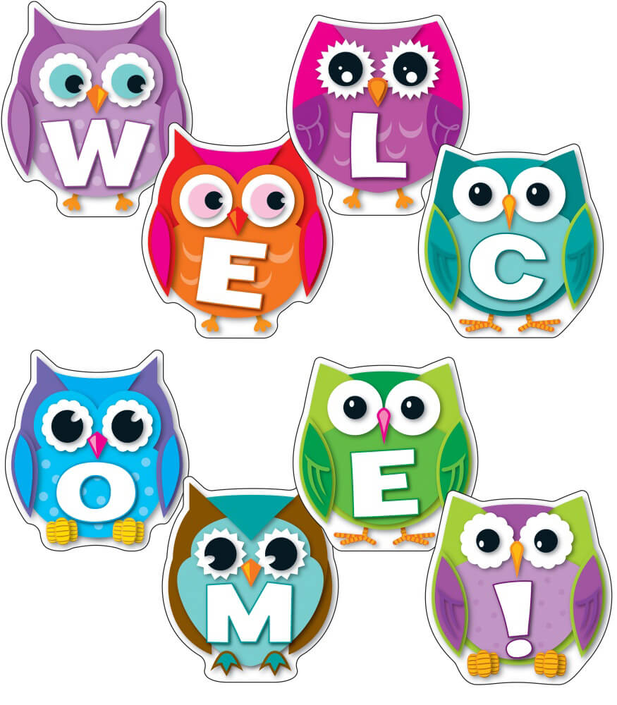 Colorful Owl Welcome Bulletin Board Set Grade PK 8