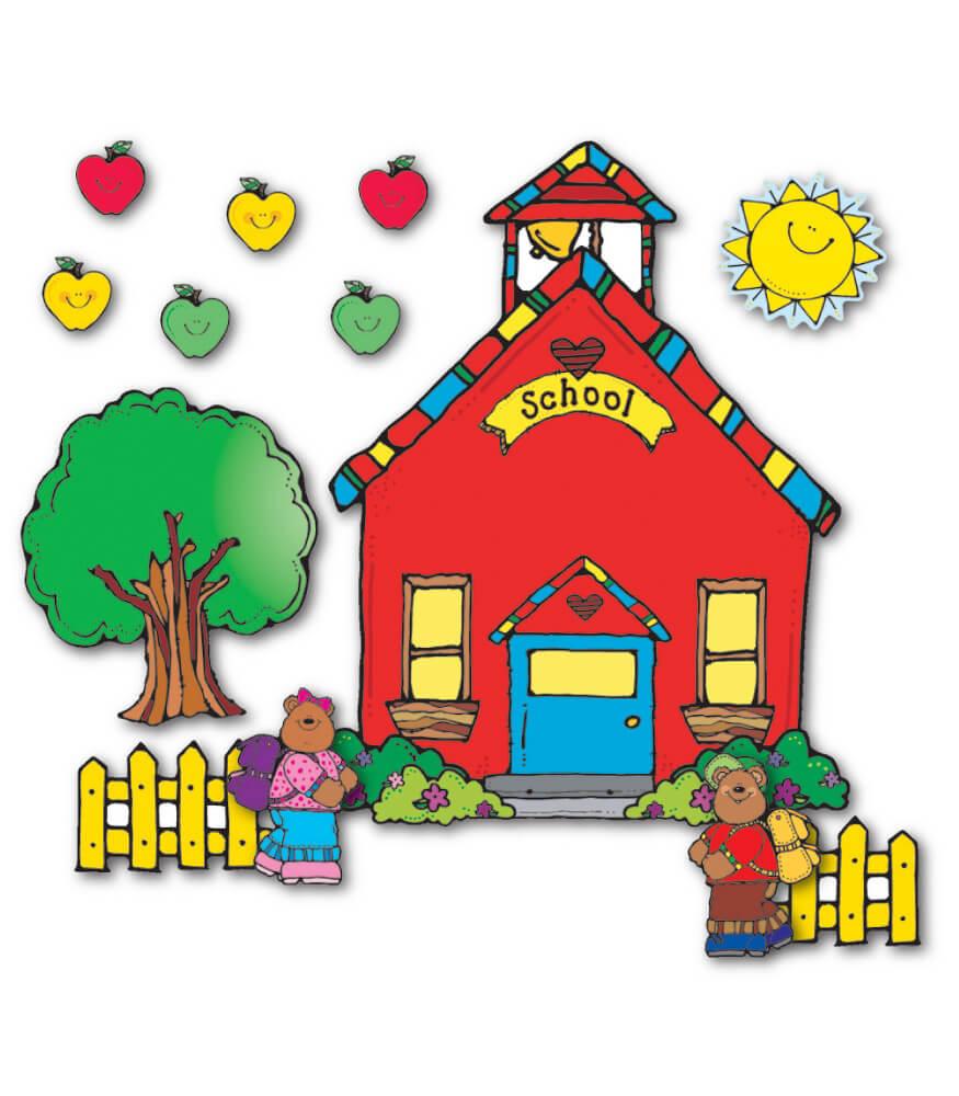 Schoolhouse Bulletin Board Set Grade PK 5 Carson Dellosa