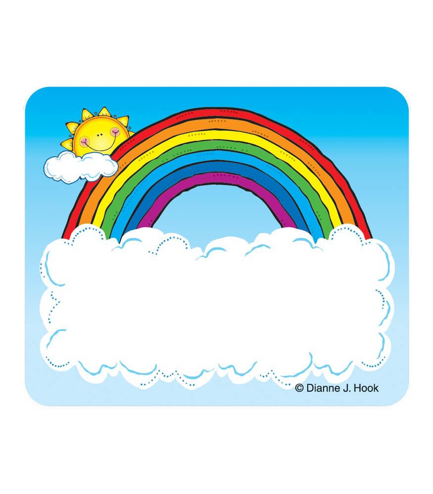 Sun N Rainbow Name Tags Carson Dellosa Publishing