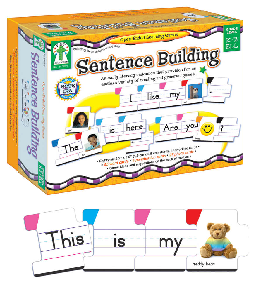 Sentence Building Board Game Grade K 2