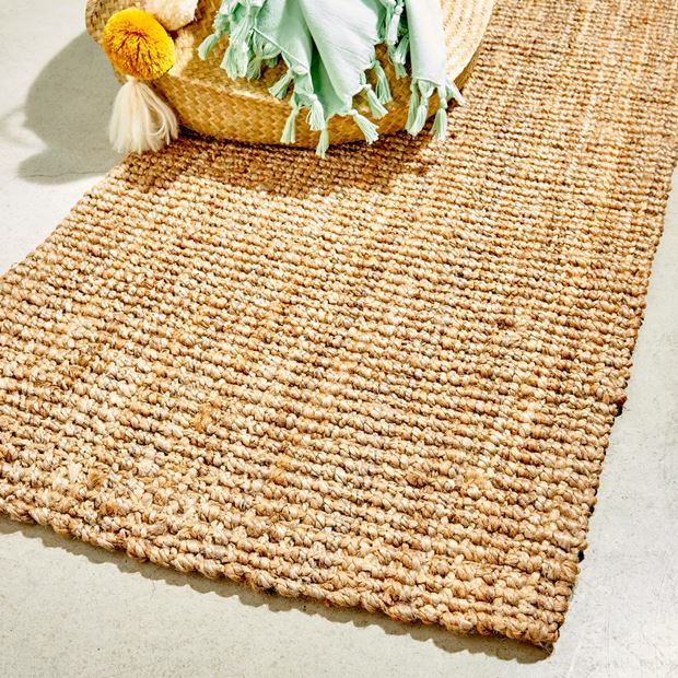 yuna tapis naturel larg 70 x long 140 cm