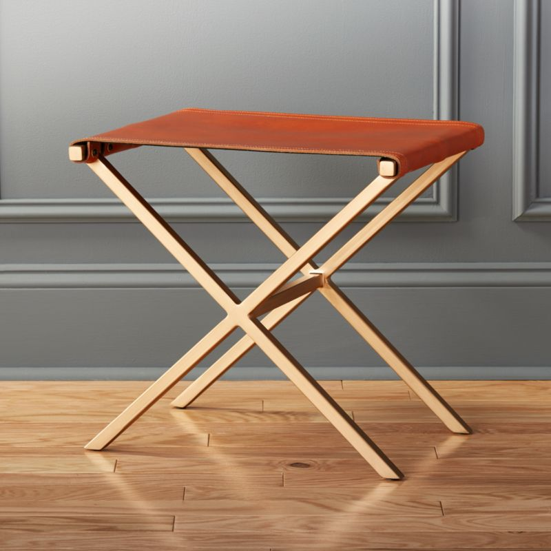 Leather Director S Stool Cb2