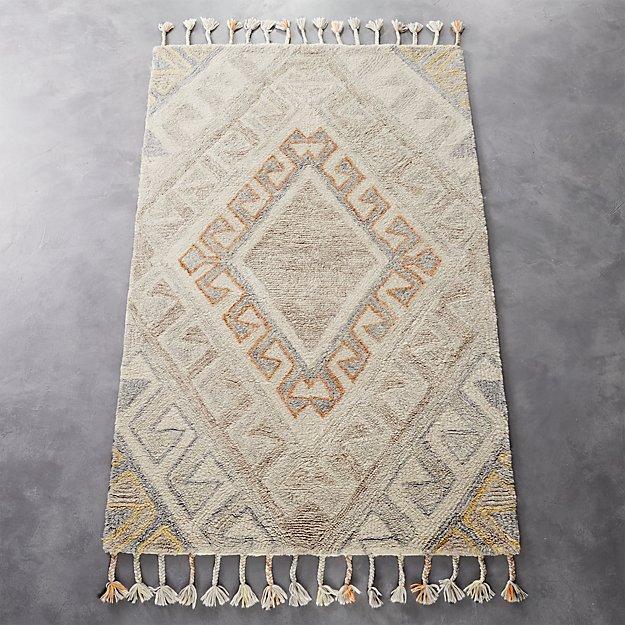 faded shag rug
