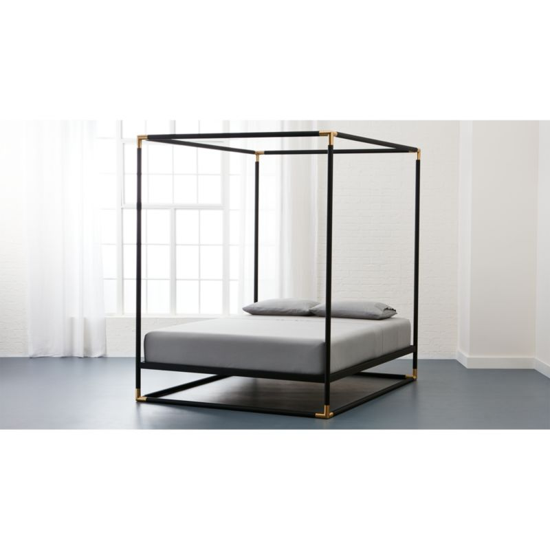 Frame Black Queen Canopy Bed + Reviews