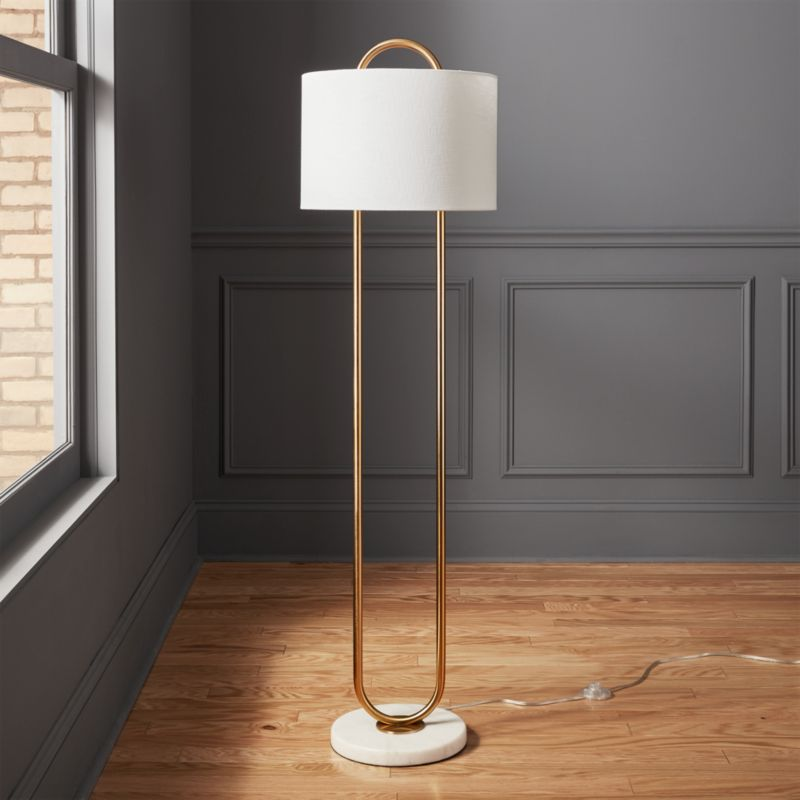 Warner Marble Base Floor Lamp Reviews Cb2