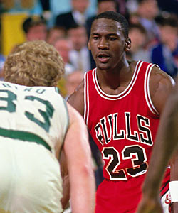 Michael Jordan preferred to face off against superstars like Larry Bird -- not play alongside them. (Getty Images)