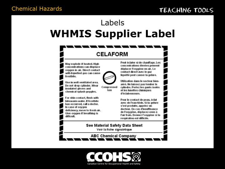 Whmis Labels Template  hmis label products and services from