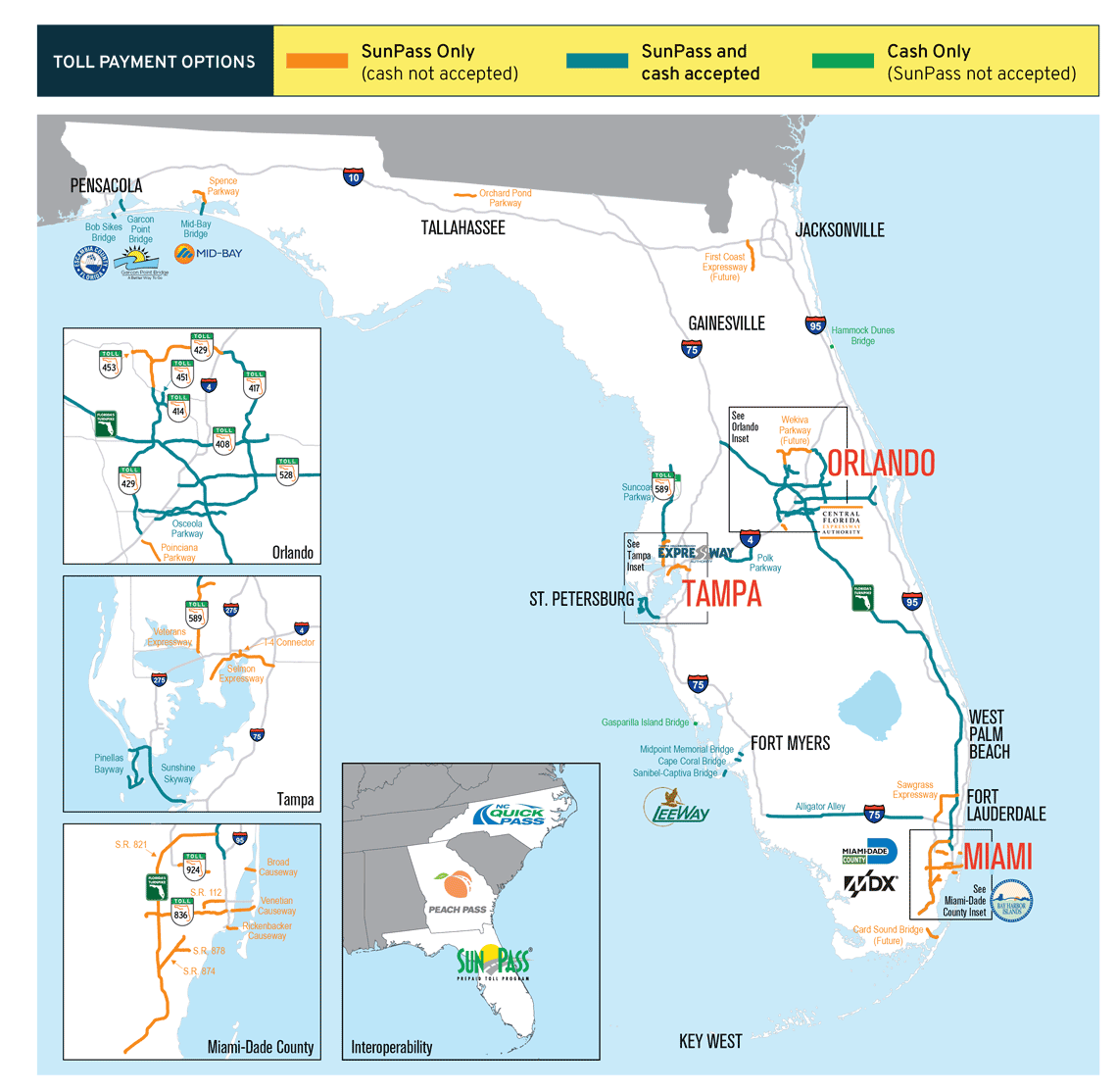 Toll Roads In Florida Map