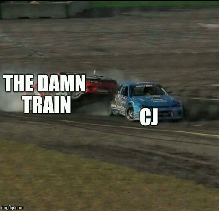All We Had To Do Was Follow The Damn Train Cj Inthesoulstone