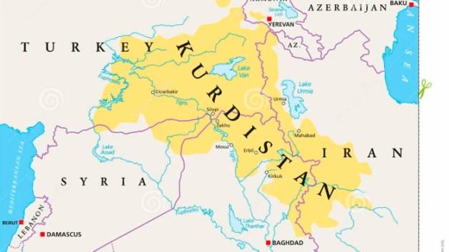 karta över kurdistan