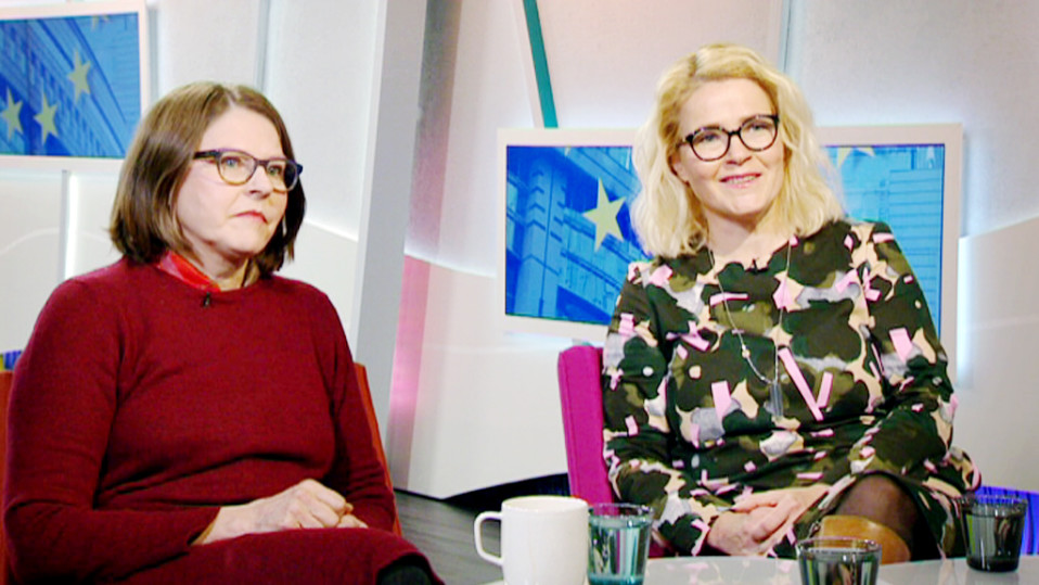 Heidi Hautala ja Miapetra Kumpula-Natri