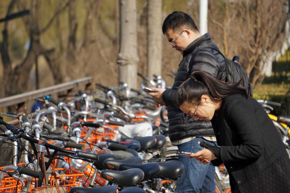 Pyörän saa käyttöönsä kun skannaa pyörässä olevan QR-koodin