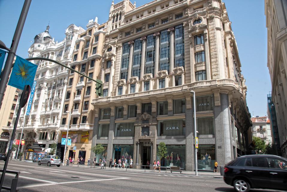 Zaran koristeellinen liiketila Madridissa