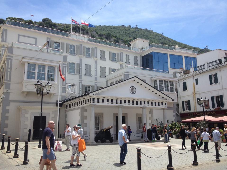 Gibraltarin aluehallituksen rakennus.