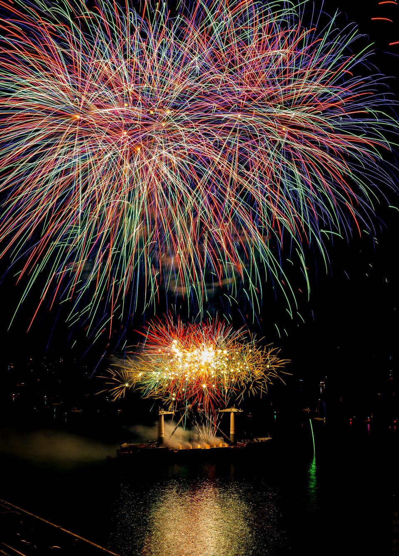 Kanadan 150-vuotispäivän ilotulitus.
