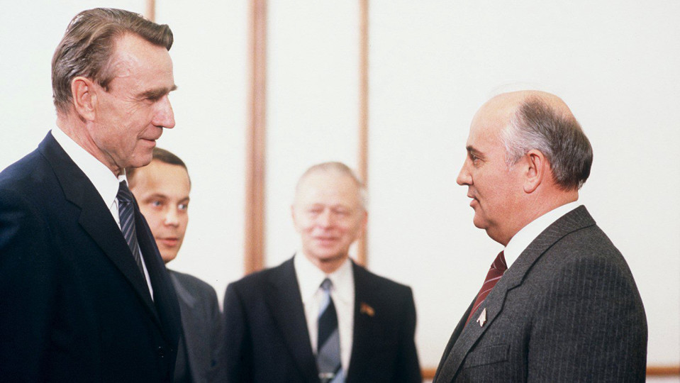 Presidentit Mauno Koivisto ja Mihail Gorbatshov Moskovassa 1985