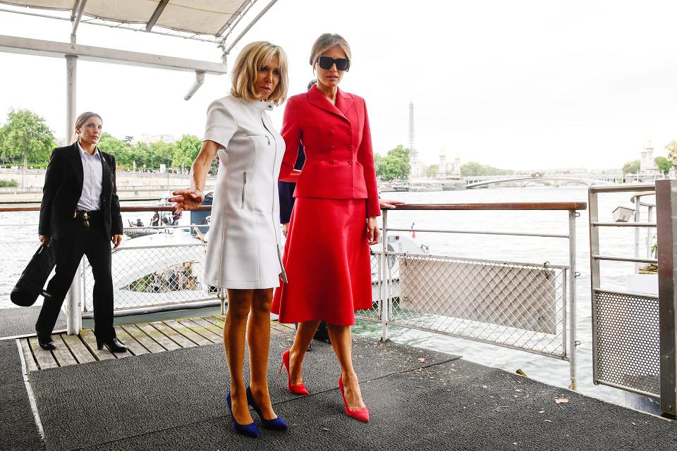 Brigitte Trogneux ja Melania Trump