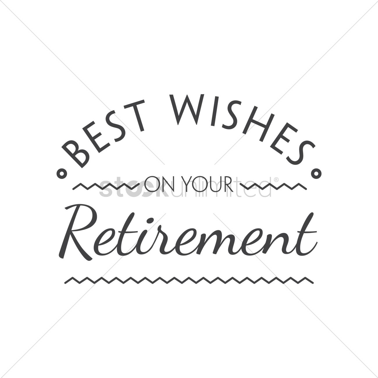 Best Wishes On Your Retirement Vector Image