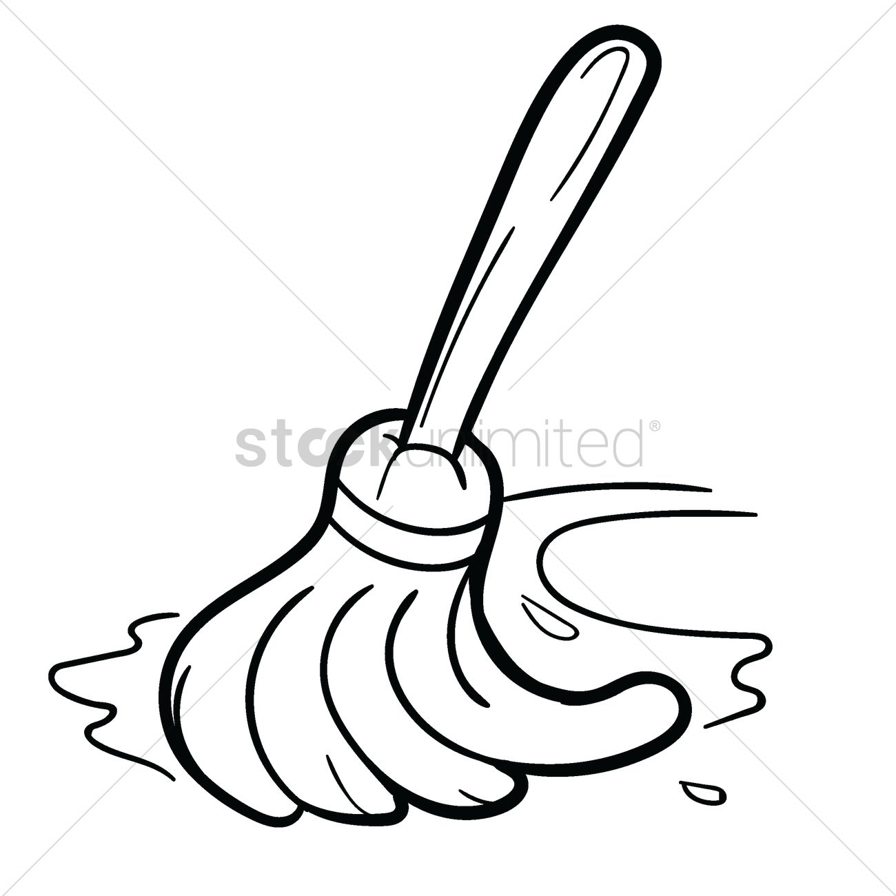 Cleaning Mop Vector Image