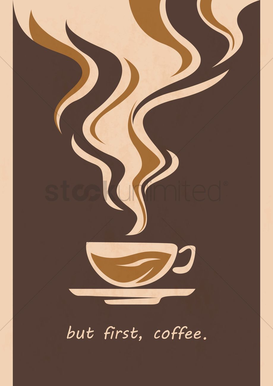coffee poster design vector image