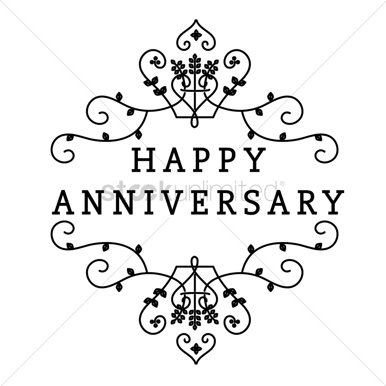 Happy Anniversary Greeting Text Vector Image