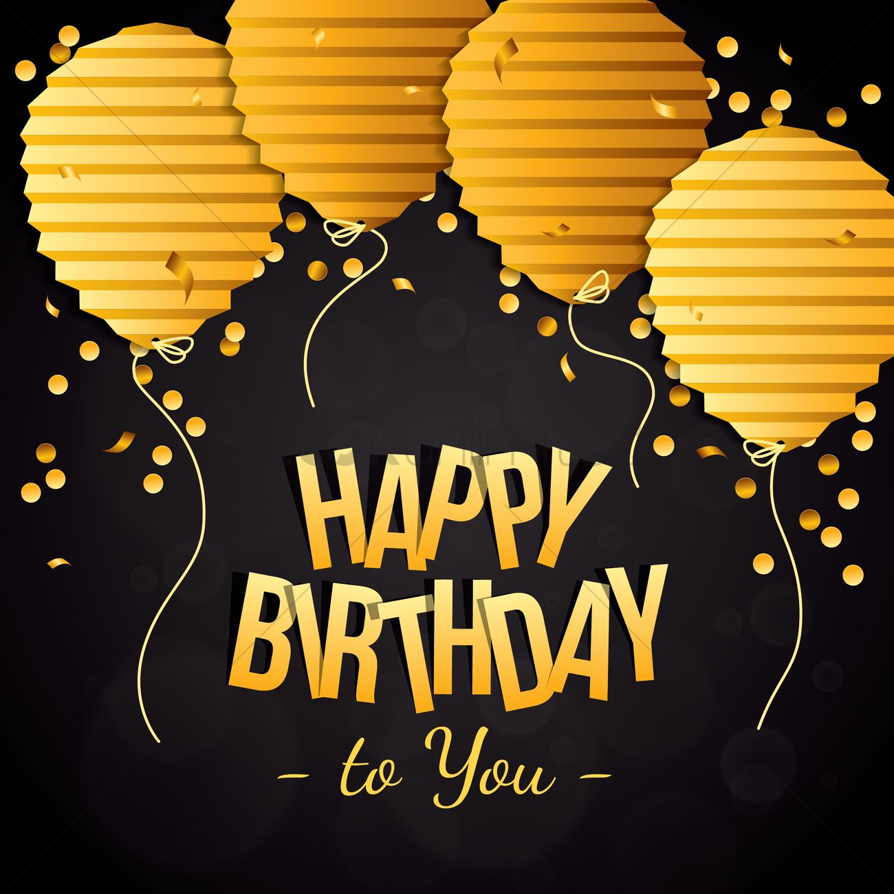 Happy Birthday With Classy Concept Vector Image 1934695 Stockunlimited