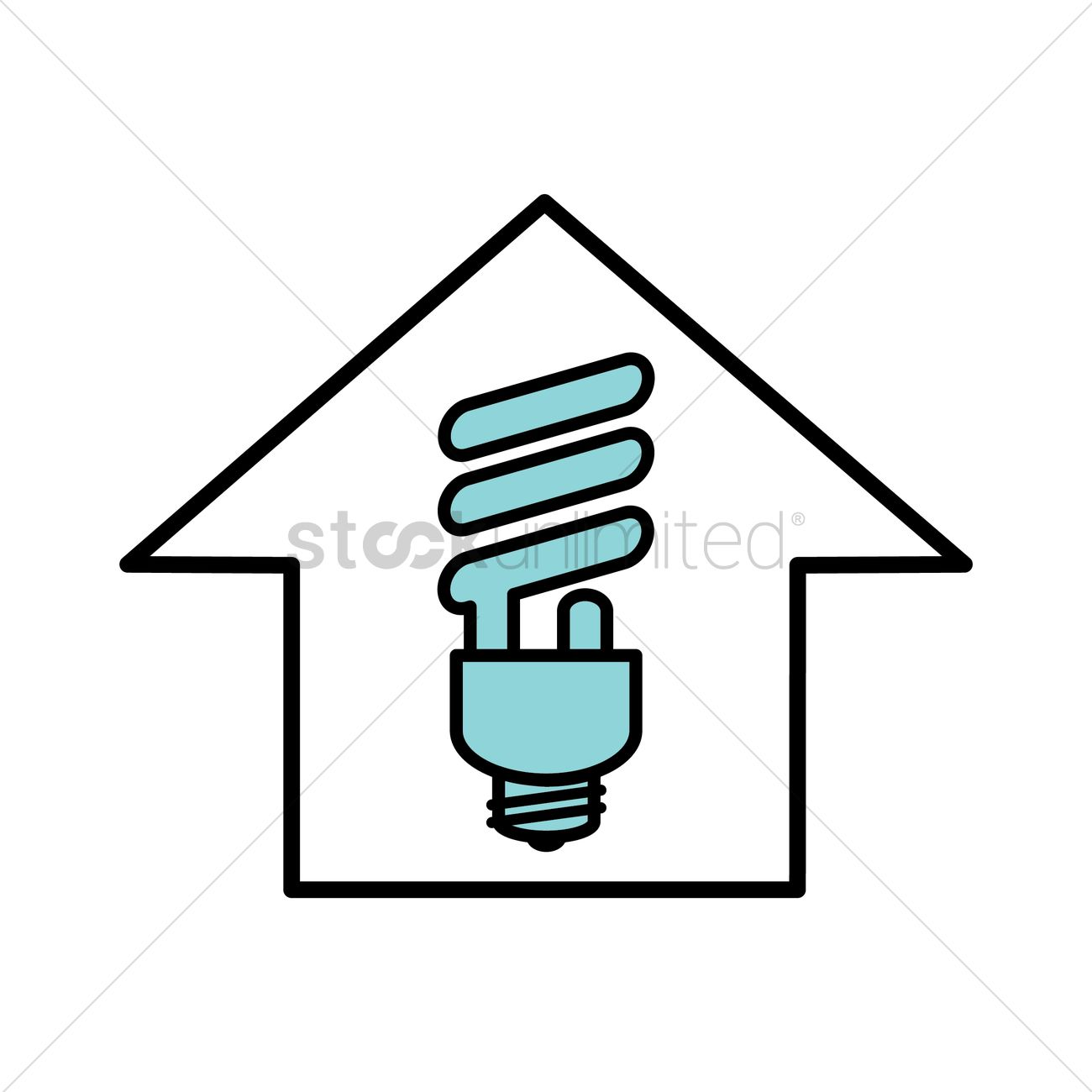 Light Bulb In The House Icon Vector Image
