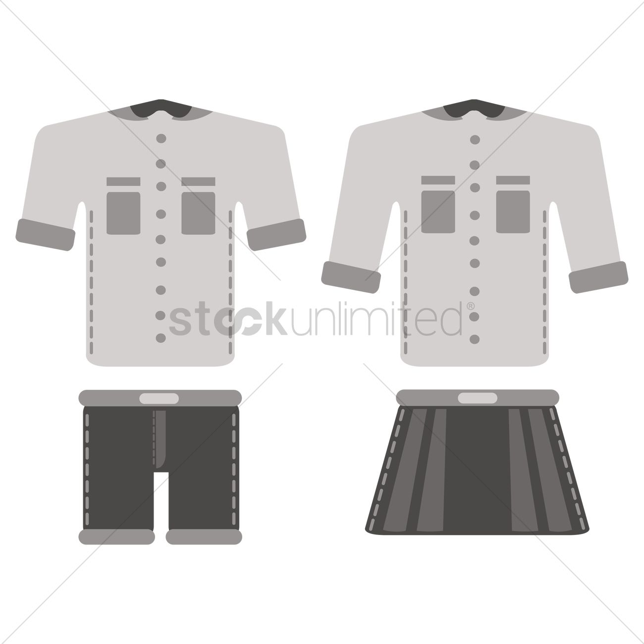 School Uniform Vector Image