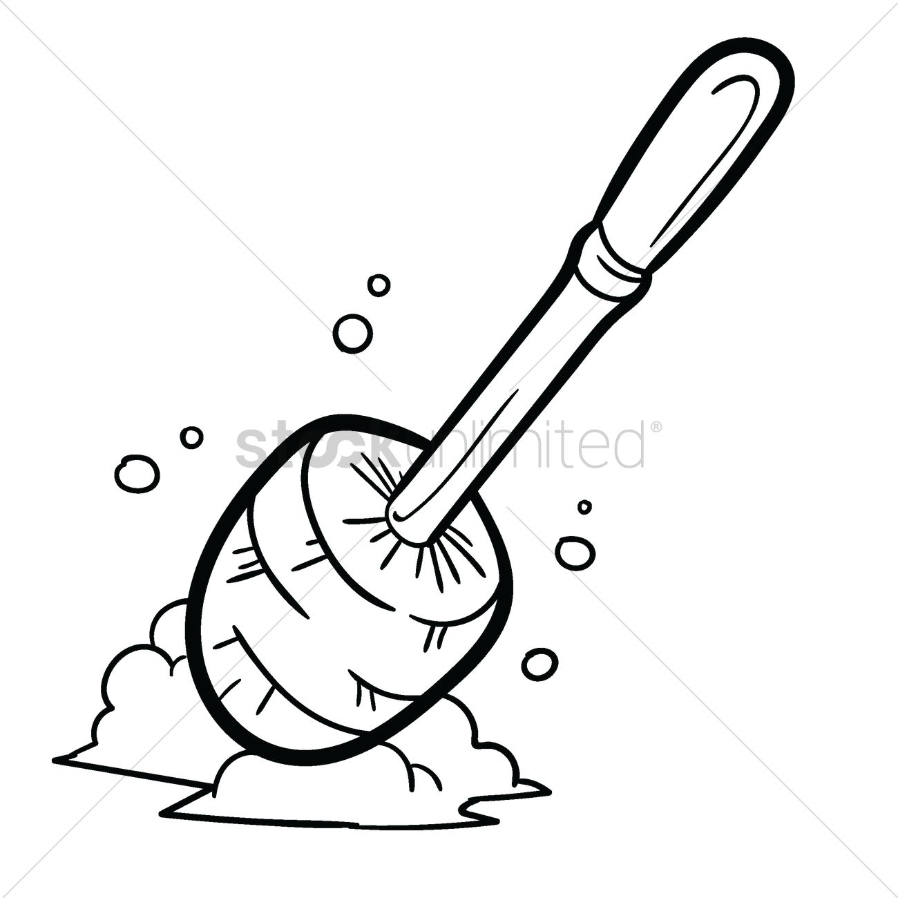 Toilet Brush Vector Image