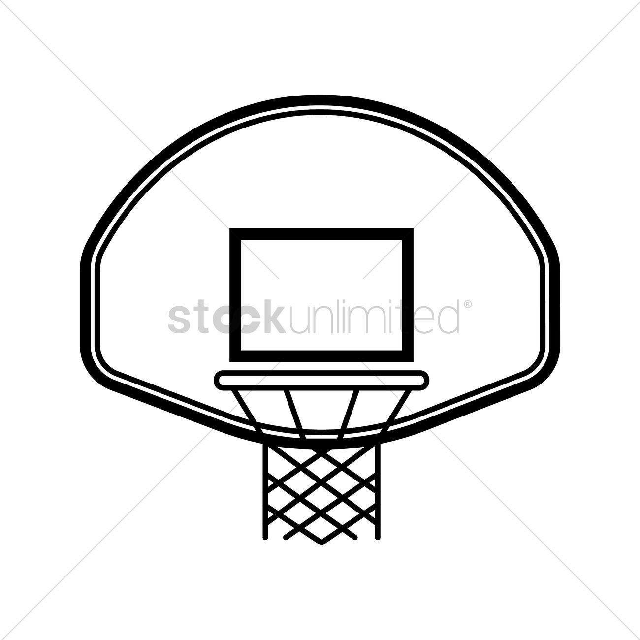 Basketball Backboard And Rim Vector Image
