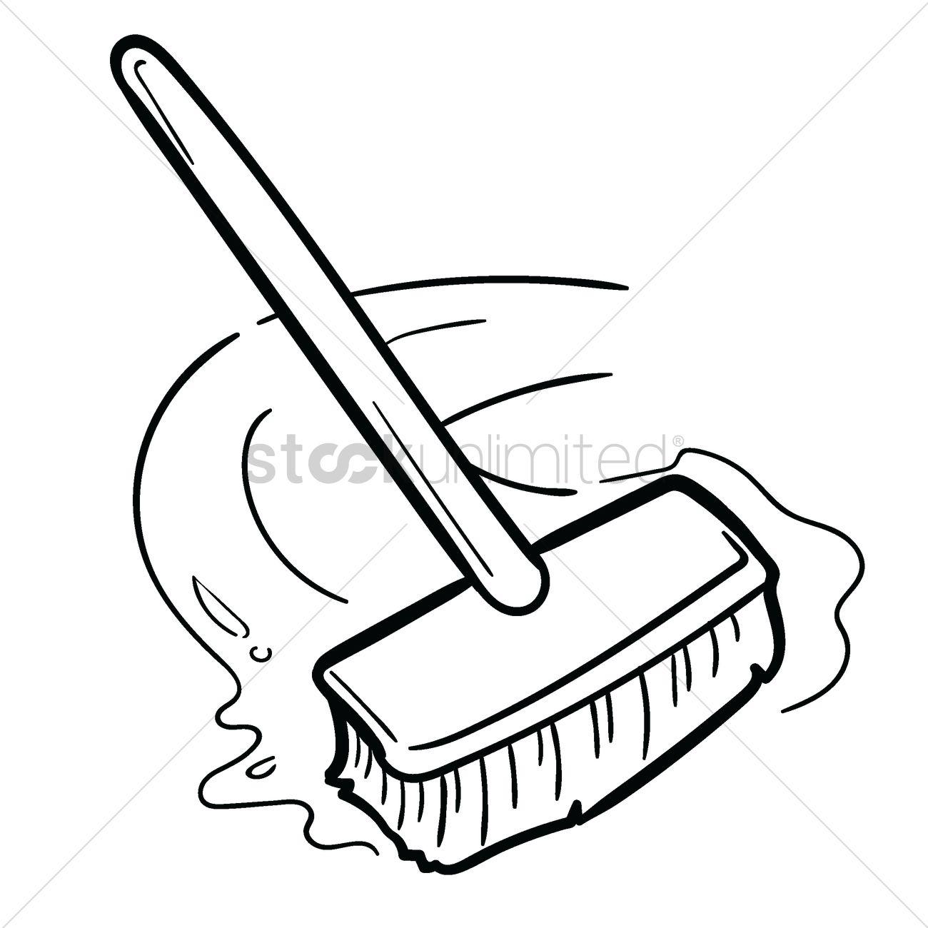 Floor Brush Vector Image