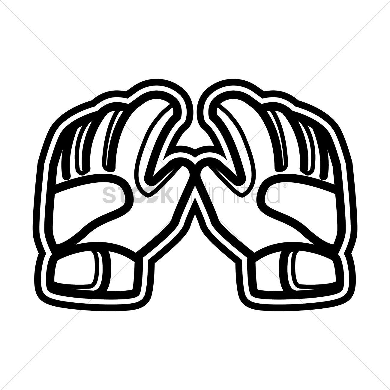 Goalkeeper Gloves Vector Image
