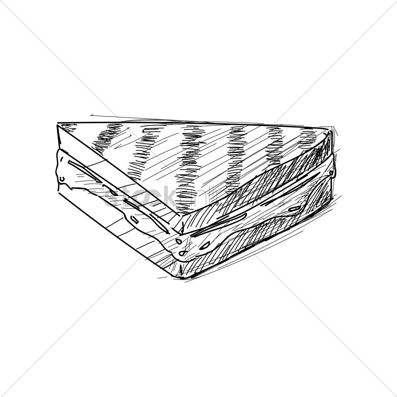Grilled Cheese Sandwich Vector Image