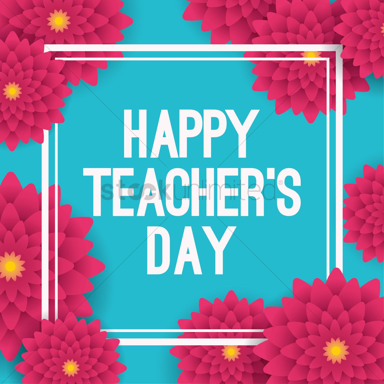 Happy Teacher S Day Design Vector Image