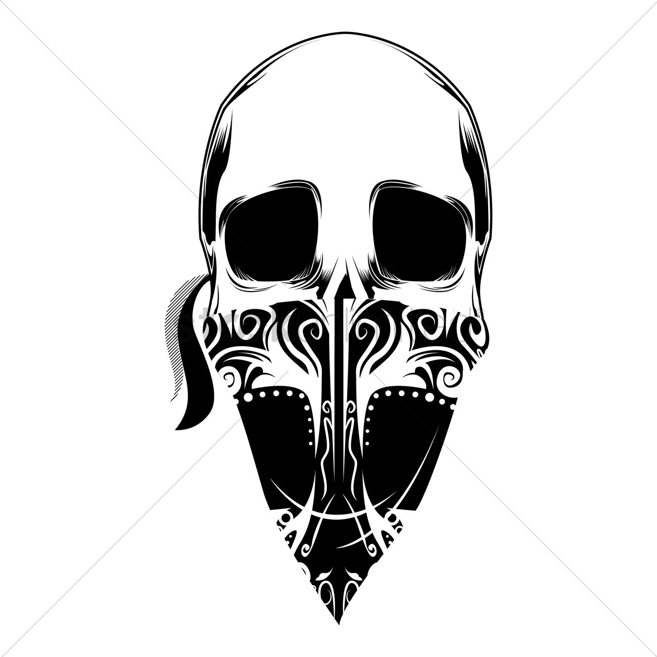 Outlaw Skull Vector Image
