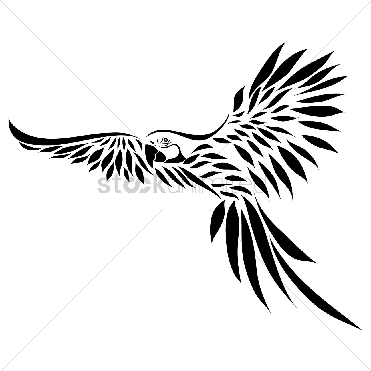 Free Parrot Tattoo Vector Image