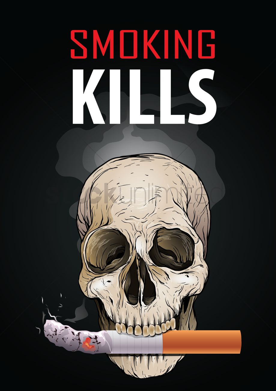 smoking kills poster design vector
