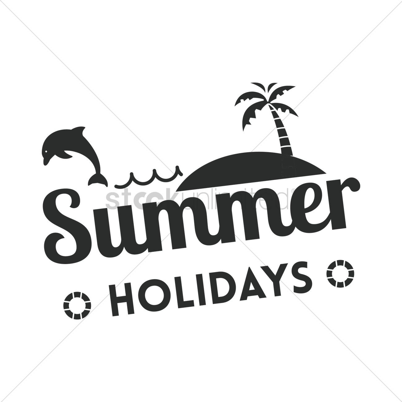 Summer Holiday Label Vector Image