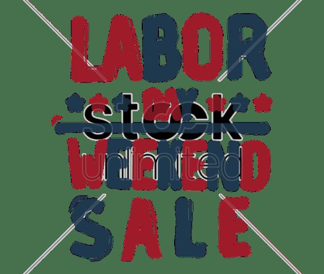 Us Labor Day Sale Vector Graphic