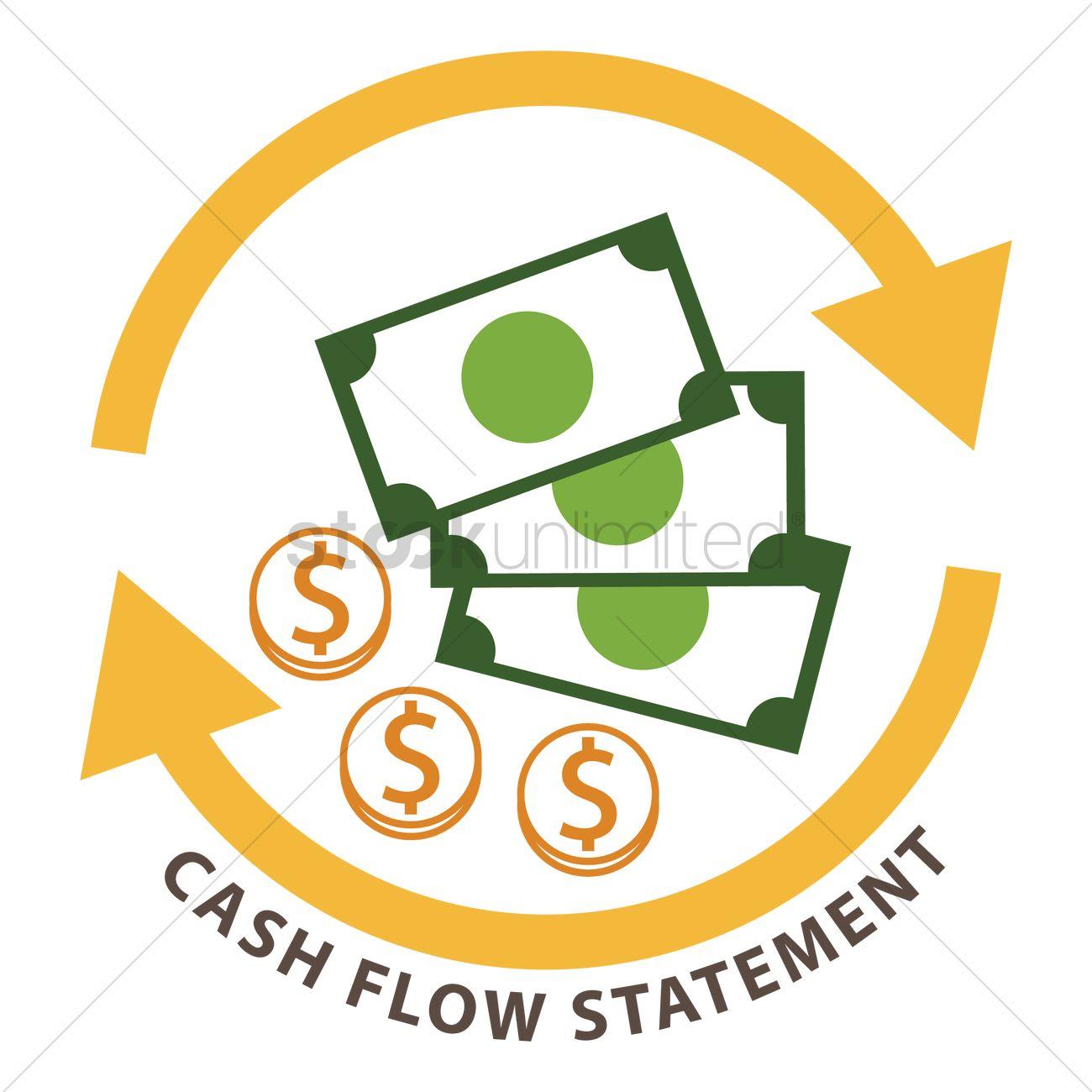 Cash Flow Statement Vector Image