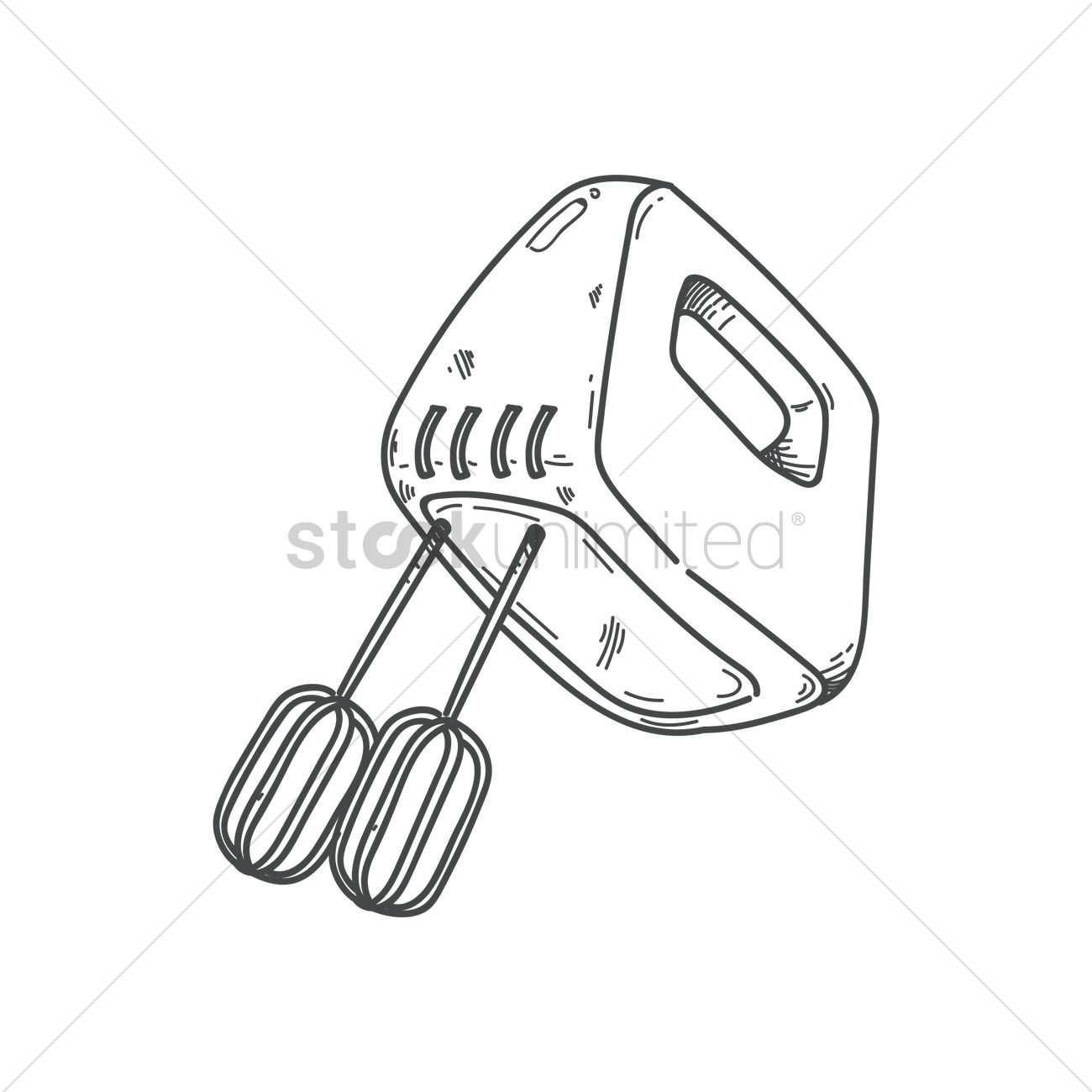 Electric Whisk Vector Image