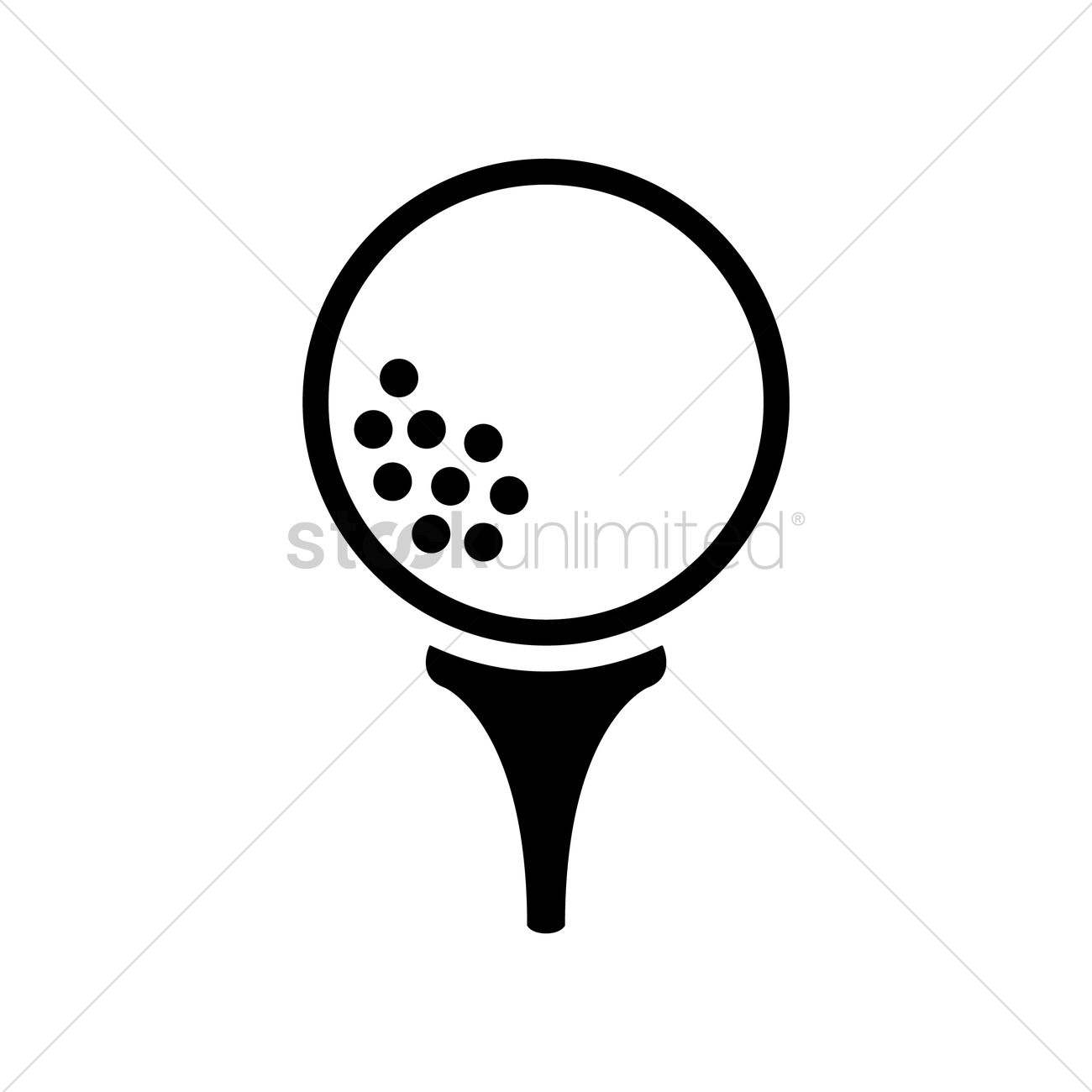 Free Golf Ball On Tee Vector Image