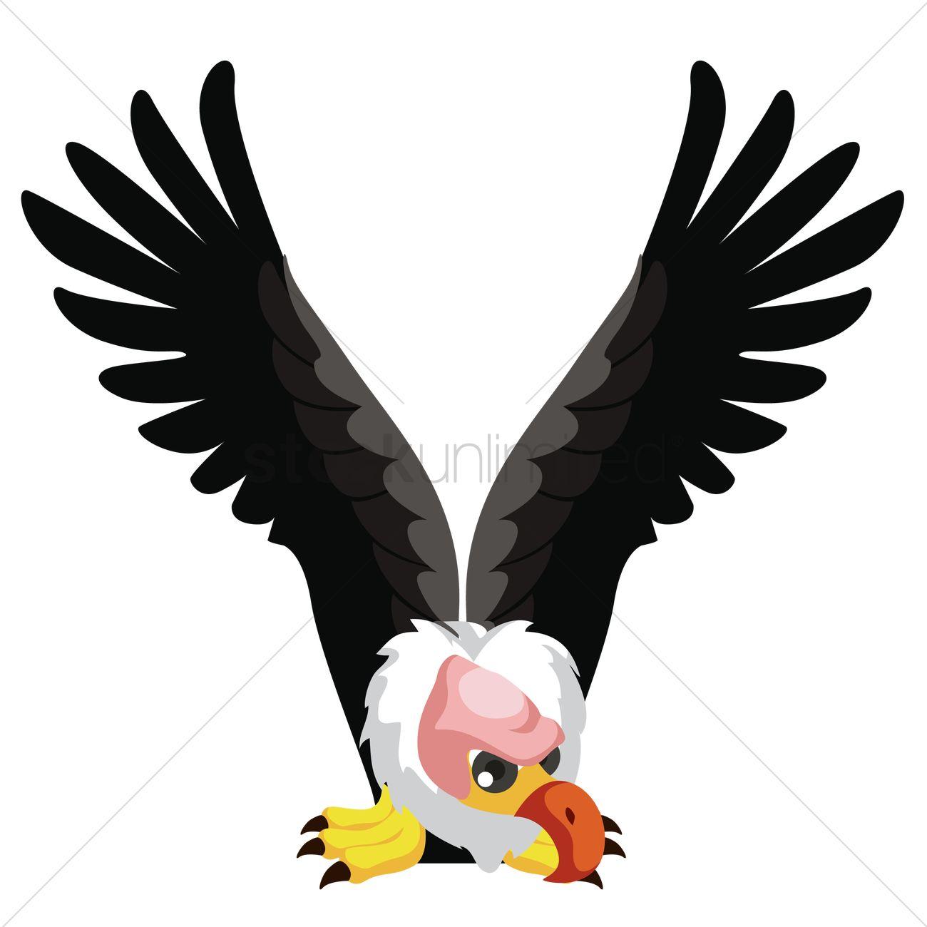 Letter V For Vulture Vector Image