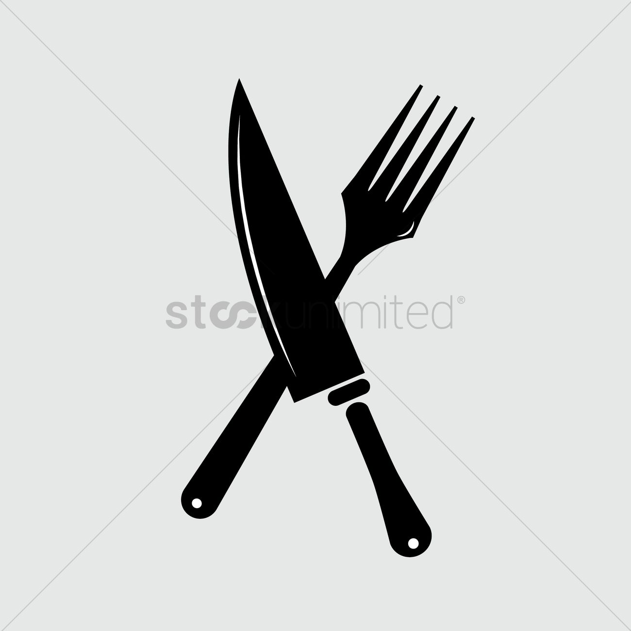 Silhouette Of Knife And Fork Vector Image