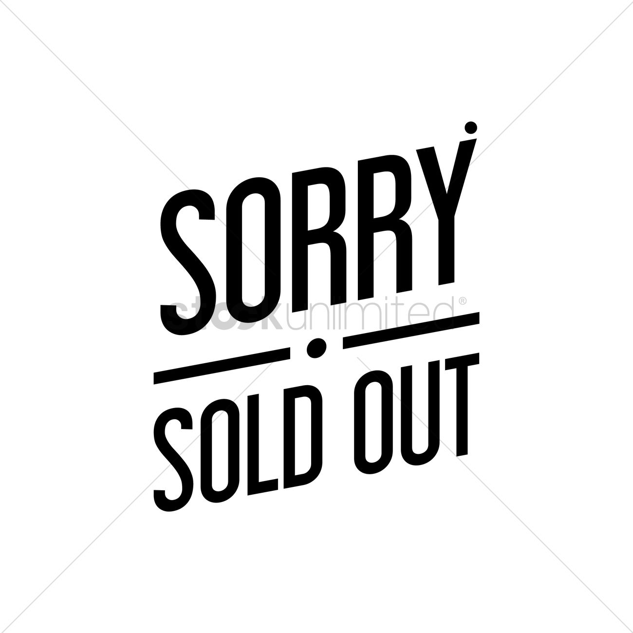 Sorry Sold Out Text Vector Image
