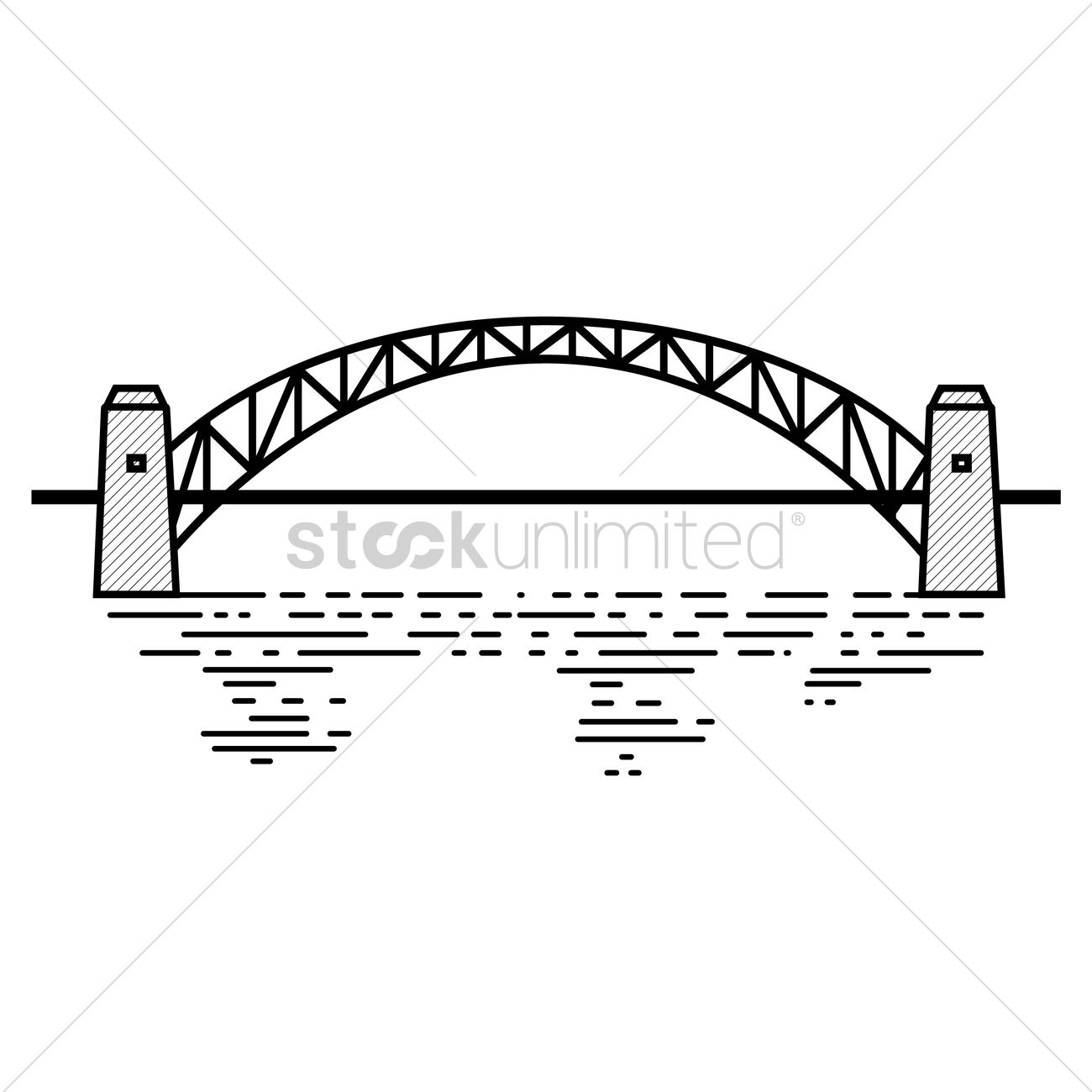 Sydney Harbour Bridge Vector Image