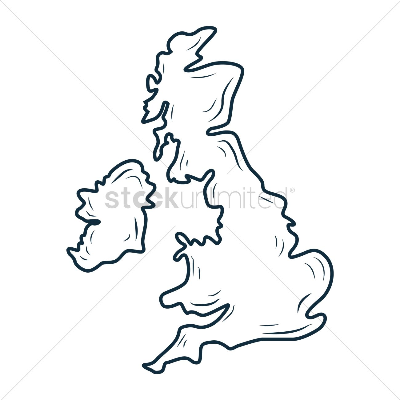 Free Uk Map Vector Image