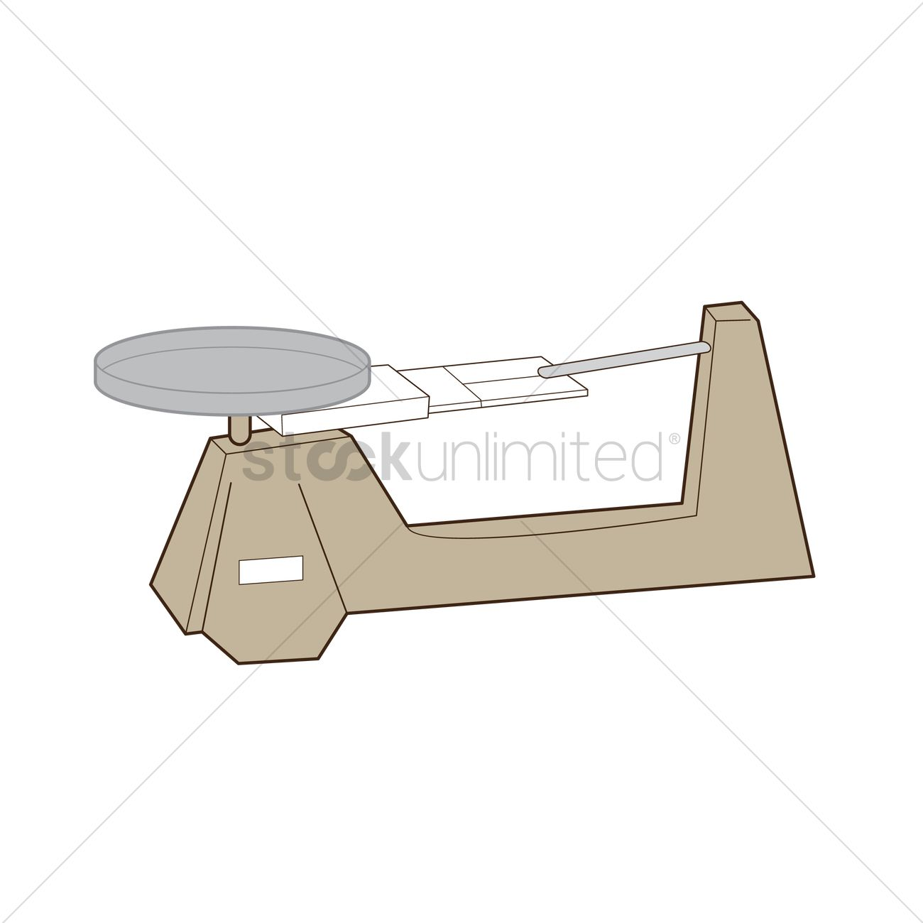 Free A Traditional Triple Beam Balance Vector Image