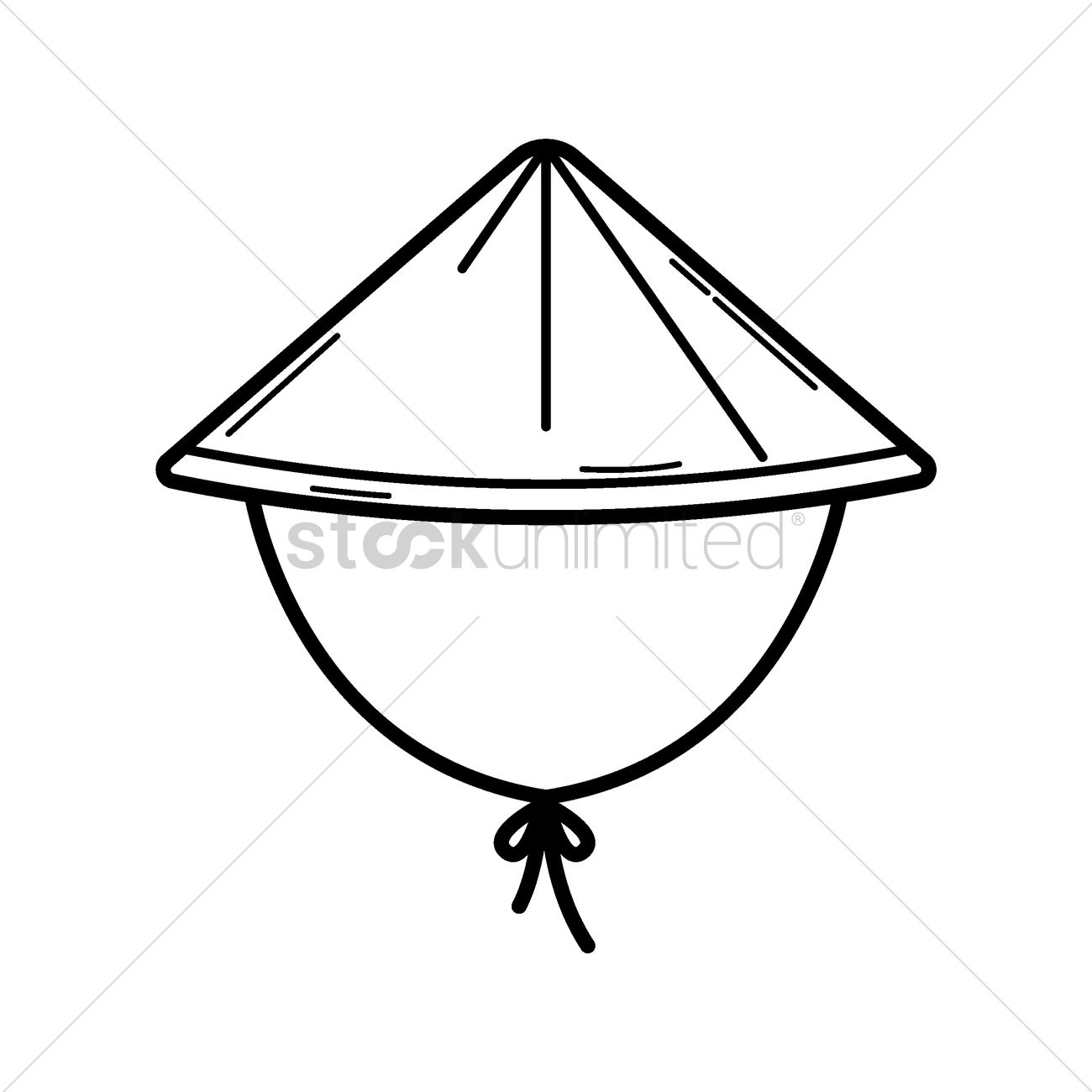 Bamboo Hat Vector Image