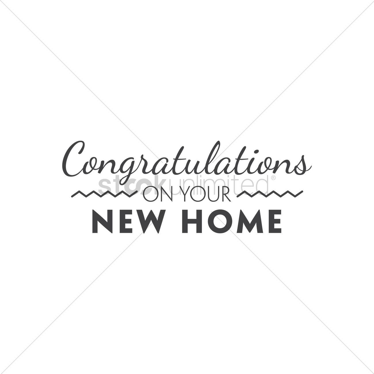Congratulations On Your New Home Vector Image